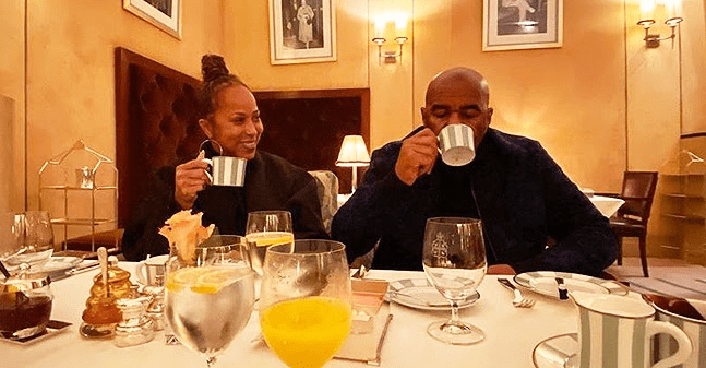 Steve Harvey's Wife Marjorie Shares Sweet Photo of the Couple Enjoying  Cup of Tea in London