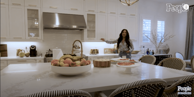 Beauvais standing in her gorgeous kitchen for a virtual tour. | Photo: YouTube/People