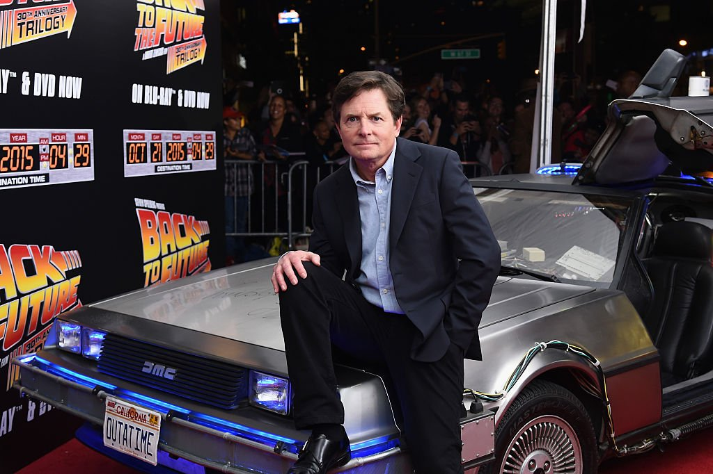 """Actor Michael J. Fox attends the """"Back to the Future"""" reunion with fans in celebration of the Back to the Future 30th Anniversary Trilogy on Blu-ray and DVD on October 21, 2015 at AMC Loews Lincoln Square 13 in New York City.   Source: Getty Images"""