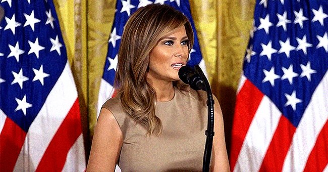 Melania Trump Puts on Leggy Display in Beige Dress and Yellow Pumps to Celebrate 2020 Graduates