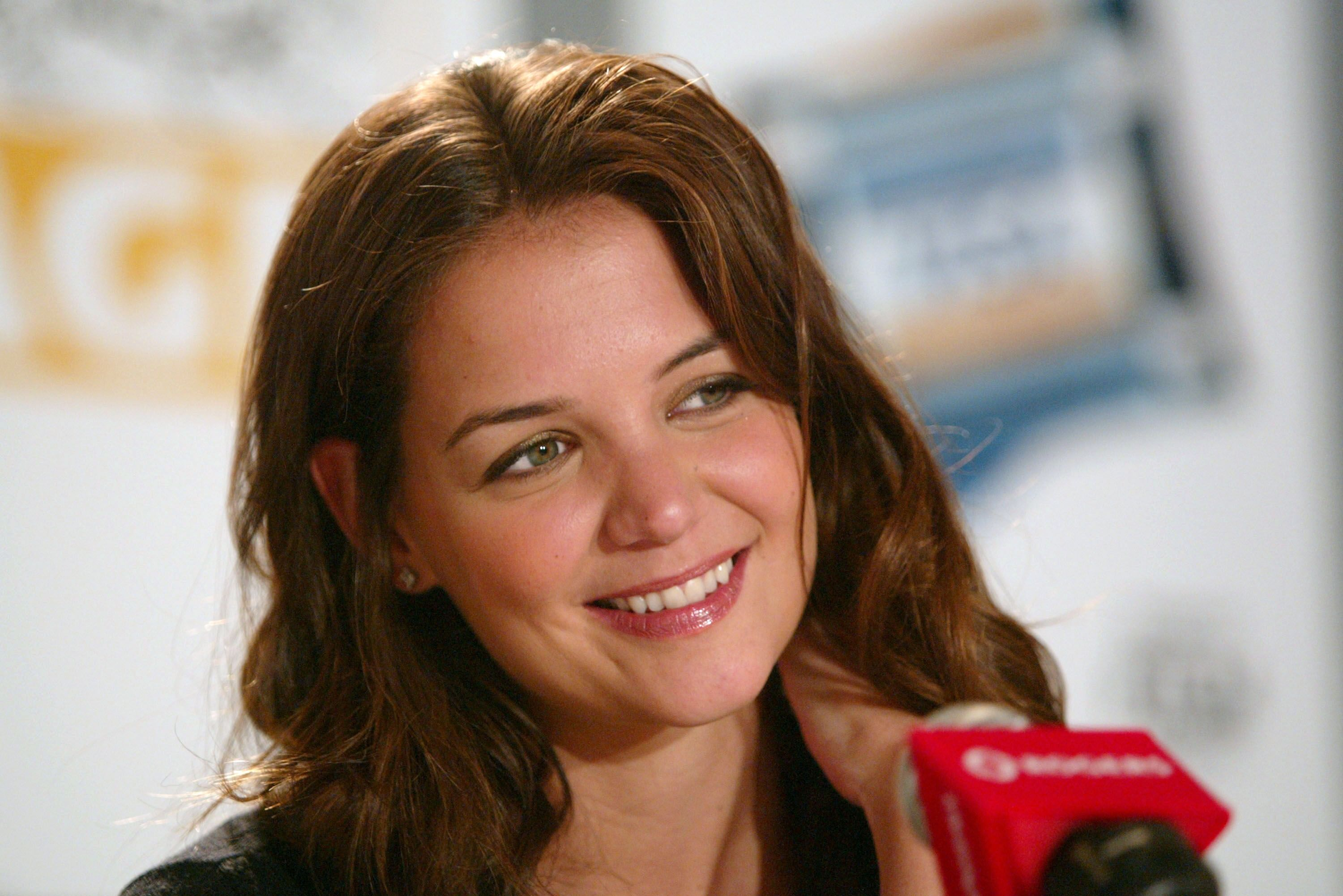 """Katie Holmes participates in """"The Singing Detective"""" press conference during the 2003 Toronto International Film Festival. 