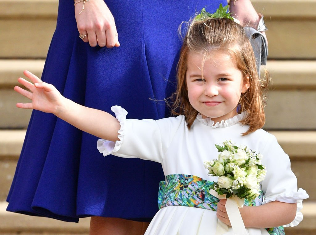Princess Charlotte of Cambridge attends the wedding of Princess Eugenie of York and Jack Brooksbank at St George's Chapel in Windsor, England   Photo: Getty Images