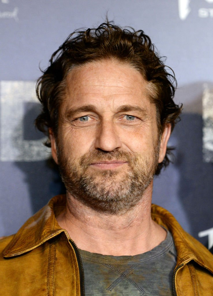 """Gerard Butler arrives at the premiere of """"Burden"""" at the Silver Screen Theater at the Pacific Design Center on February 27, 2020 