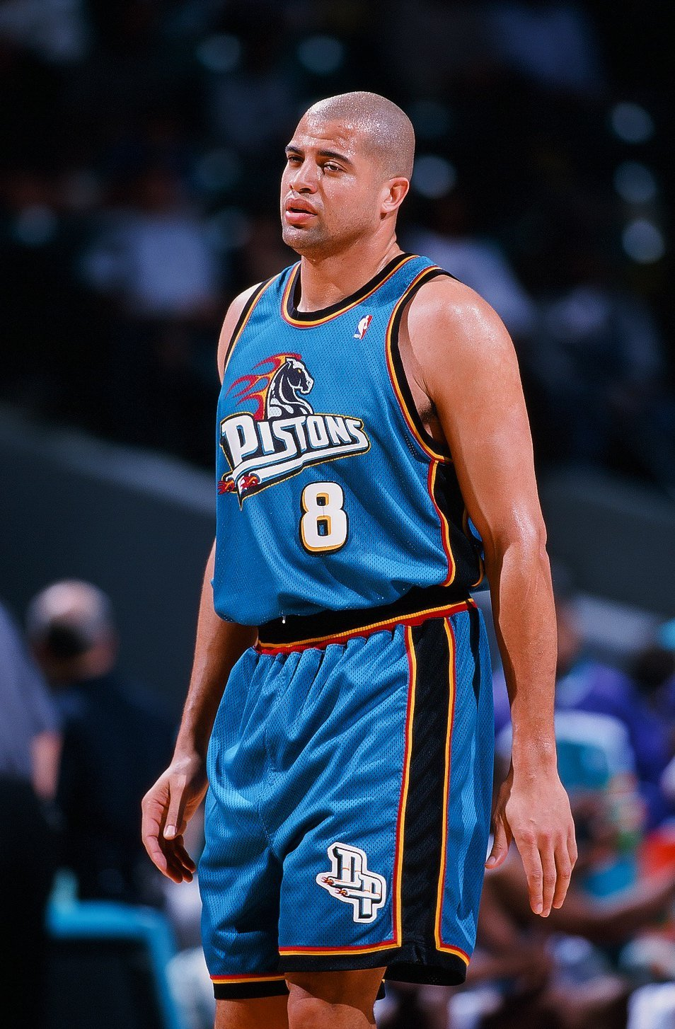 Bison Dele playing for the Detroit Pistons in the late '90s   Photo: Getty Images