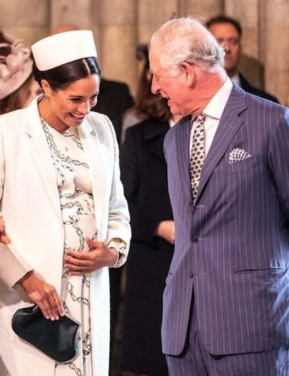 Prince Charles and Duchess Meghan at Westminster Abbey. | Source: Instagram/Kensington Palace