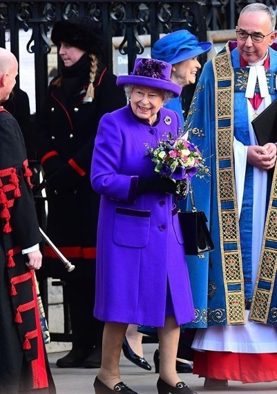 The Queen at Westminster Abbey. | Source: Instagram/Kensington Palace