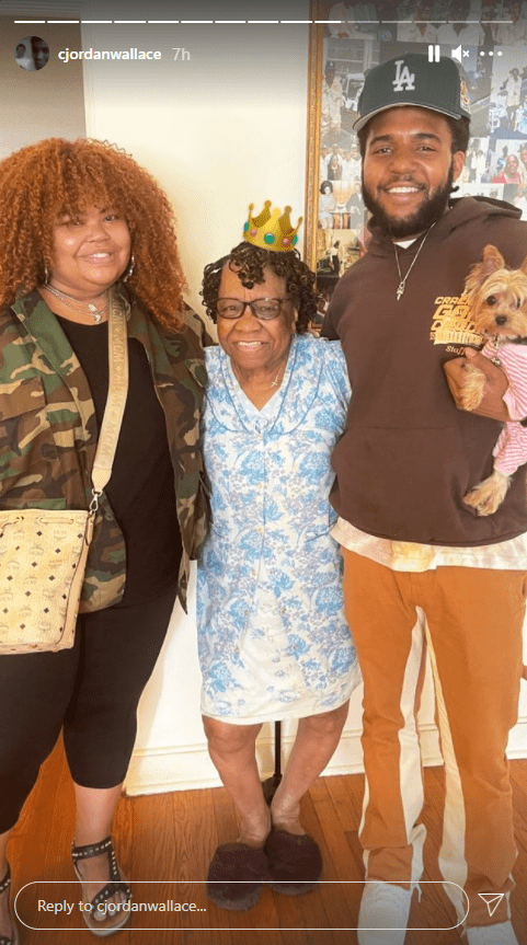 Another picture of Biggie's son, C.J. Wallace posing with friends and relatives on Instagram | Photo: Instagram/cjwllace