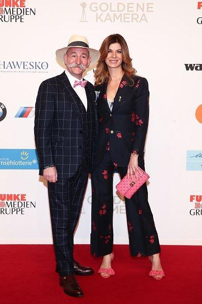 Horst Lichter und seine Frau Nada, Goldene Kamera 2018, Hamburg   Quelle: Getty Images