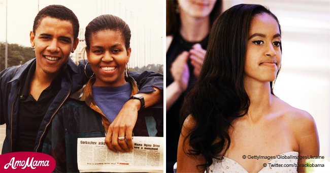 Michelle Obama's spitting image found after Barack's birthday message