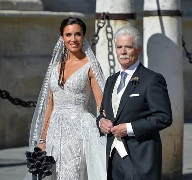 Pilar Rubio y su padre, Manuel Rubio. || Fuente: Getty Images