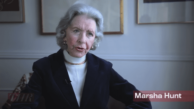 """Marsha Hunt interviewed for """"Victims of Hollywood's Blacklist"""" circa 2012  Photo: YouTube/The Hollywood Reporter"""