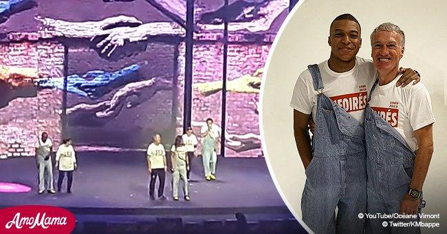Kylian Mbappé et Didier Deschamps font une apparition inattendue sur'Les Enfoirés' pour chanter