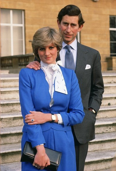 Lady Diana Spencer and Prince Charles at Buckingham Palace following the announcement of their engagement  | Photo: Getty Images