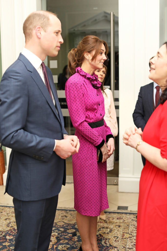 Prince William and Kate Middleton chat with guests during a reception at the Museum of Literature on March 04, 2020, in Dublin, Ireland | Source: Getty Images (Julien Behal/Pool/Samir Hussein/WireImage)