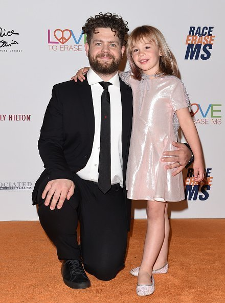 Jack Osbourne and daughter Pearl Osbourne arrive at the 25th Annual Race to Erase MS Gala at The Beverly Hilton Hotel  | Photo: Getty Images