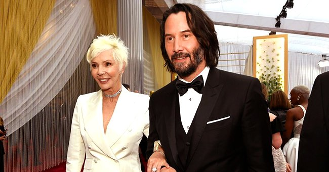Keanu Reeves from 'The Matrix' Poses on Red Carpet with His Beautiful Mom Who Is His Date to the 2020 Oscars
