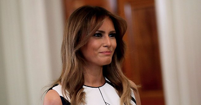 Melania Trump Is Radiant in Stylish Plaid Skirt as She Hosts Safety Patrol Students from Florida at The White House