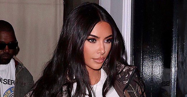 Kim Kardashian of KUWTK Shows off Curvaceous Figure in Leather Pants & Matching Top on Chilly NY Street