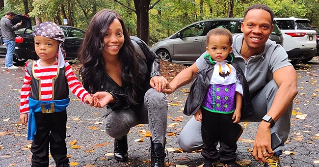Ronnie DeVoe's Adorable Twins Dress up as a Pirate & Vampire for Halloween