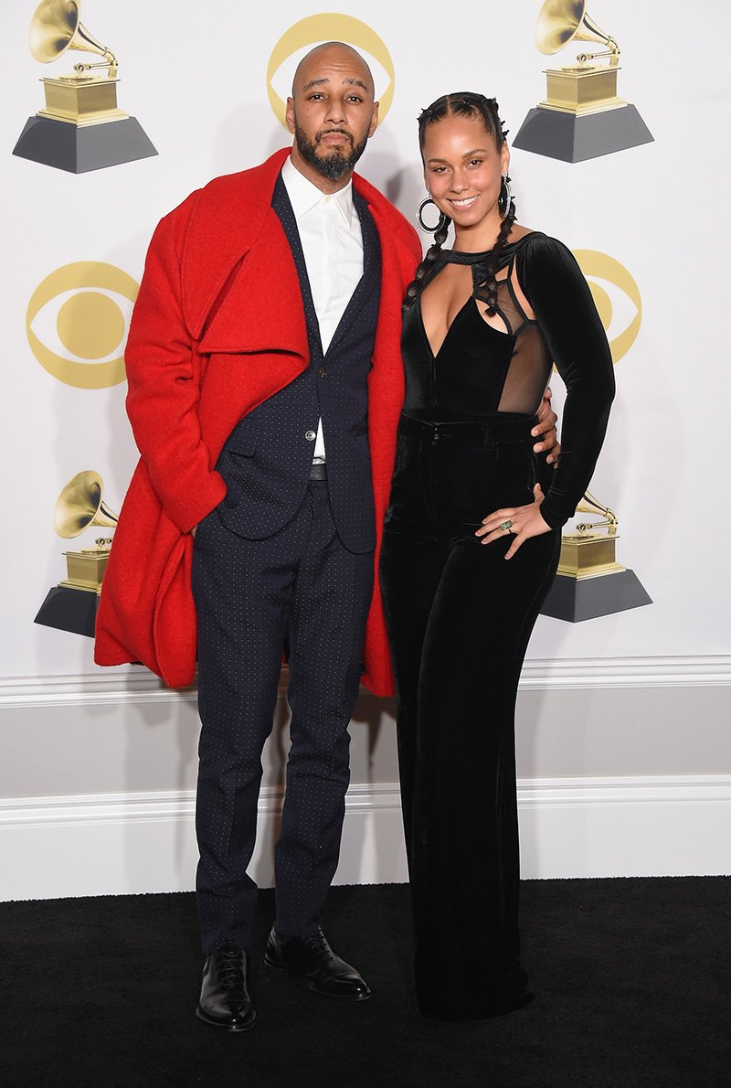 Swizz Beatz and Alicia Keys at the 60th Annual GRAMMY Awards - Press Room at Madison Square Garden on January 28, 2018 in New York City. I Image: Getty Images.