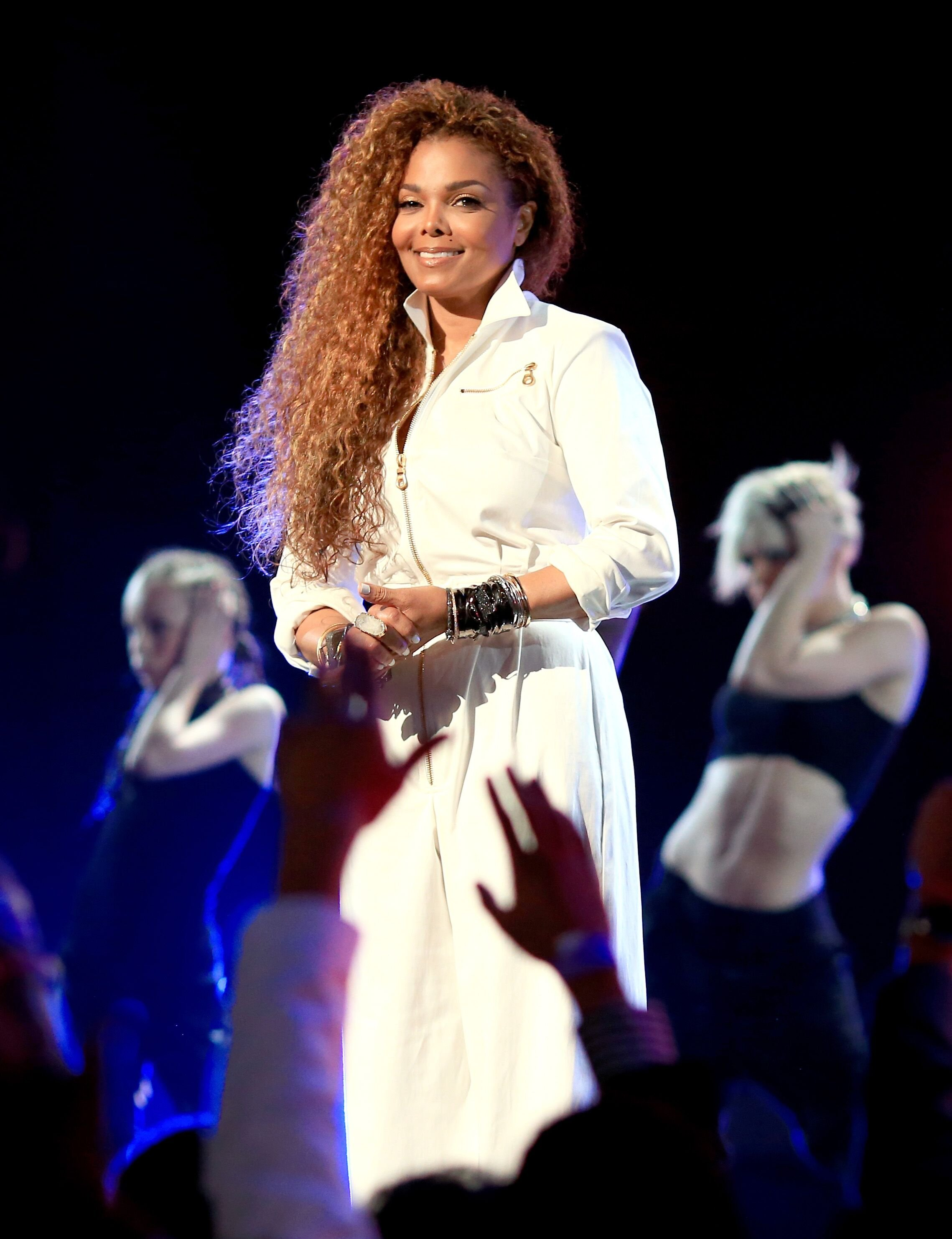 Janet Jackson speaks onstage during the 2015 BET Awards held at Microsoft Theater on June 28, 2015 in Los Angeles, California. | Photo: Getty Images