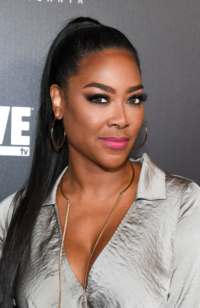 "Kenya Moore attends ""Growing Up Hip Hop Atlanta"" season 2 premiere party at Woodruff Arts Center 