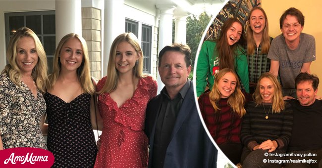 Michael J. Fox's twin daughters are all grown up, and their resemblance to parents is charming