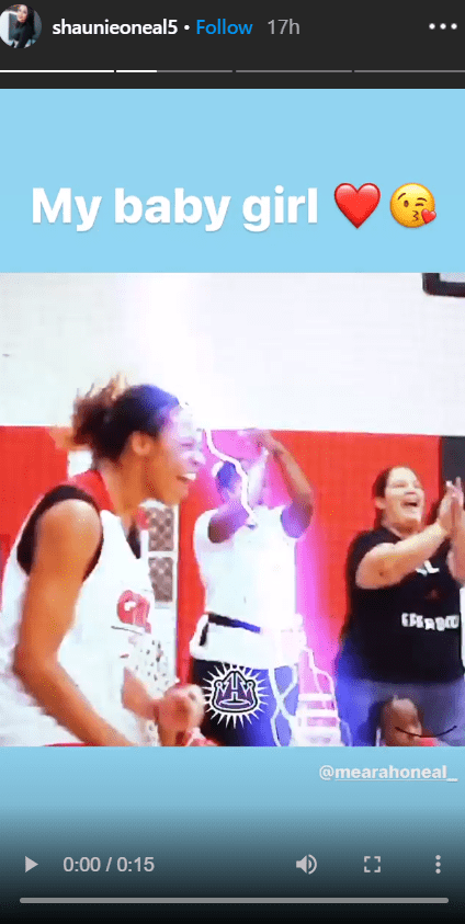 Shaunie O'Neal celebrates her daughter, Me'arah O'Neal as she plays basketball on her Instagram story | Photo: Instagram/shaunieoneal5