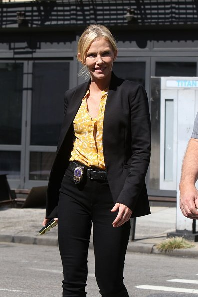 "Kelli Giddish on the set of ""Law and Order: Special Victims Unit"" on September 03, 2019 