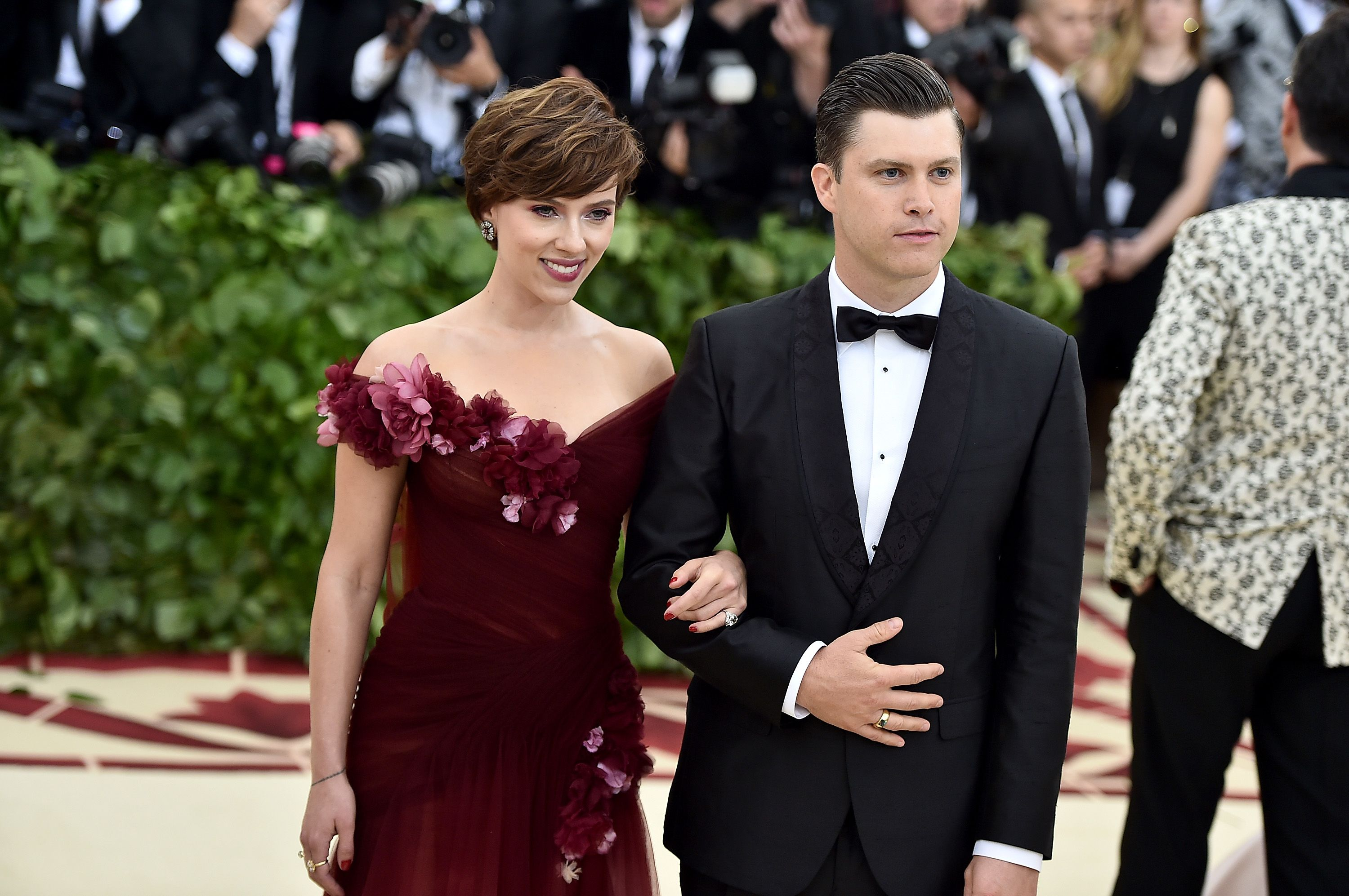 Scarlett Johansson and Colin Jost at the 2018 MET Gala in New York City | Source: Getty Images