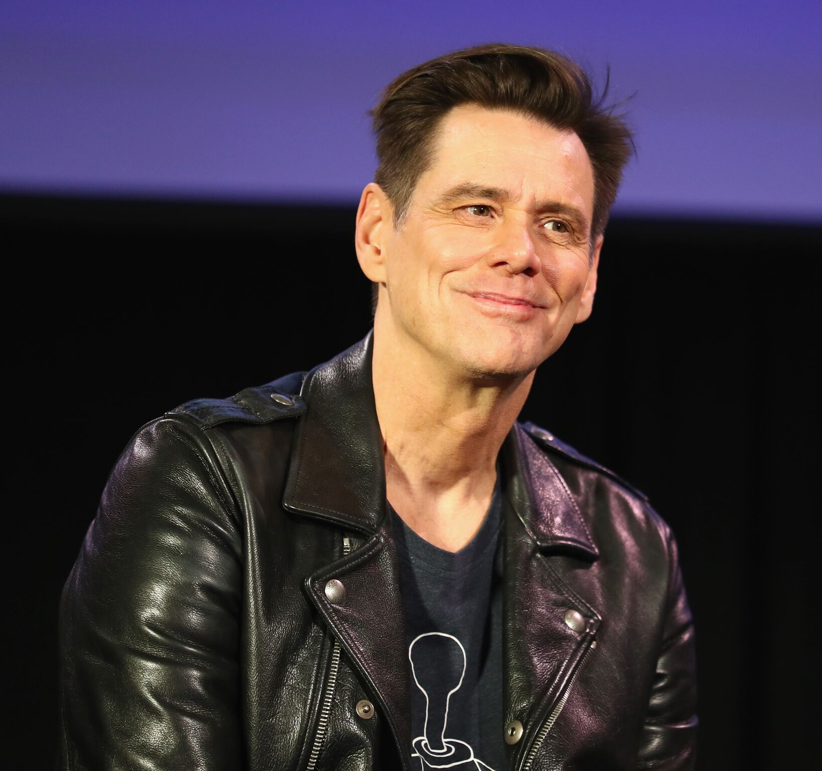 im Carrey attends 'Jim Carrey In Conversation with Jerry Saltz' during Vulture Festival Presented By AT&T at Hollywood Roosevelt Hotel | Getty Images