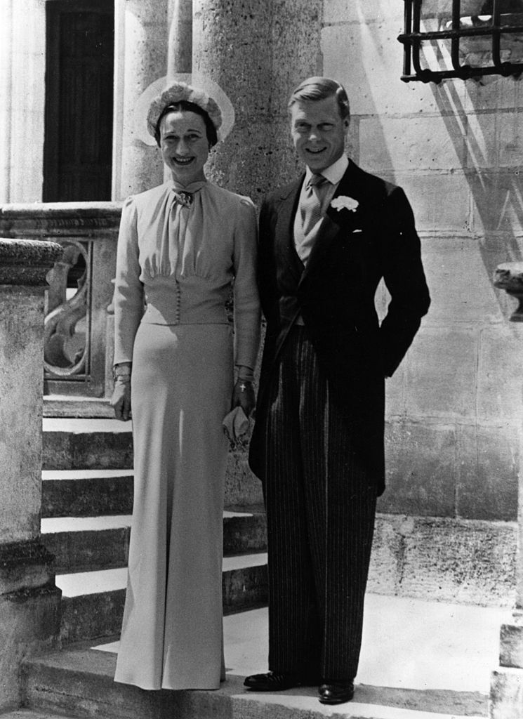 Duke of Windsor and Mrs Wallis Simpson on their wedding day at Chateau de Conde, Monts, near Tours, France in 1937 | Source: Getty Images