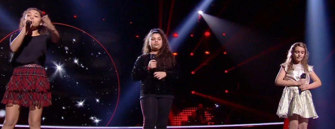 Coline, Camille et Antonia sur scène. l Source : TF1 Replay
