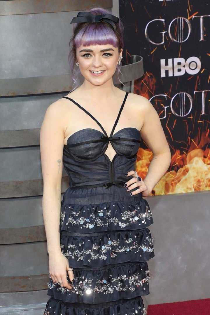 """Maisie Williams at the premiere of """"Game of Thrones"""" in New York City in April 2019. 