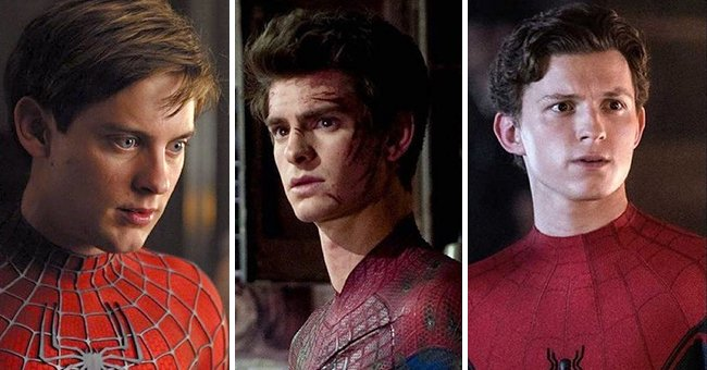 Tobey Maguire, Andrew Garfield and Tom Holland as Spider-Man   Photo: instagram.com/spidermanmovie