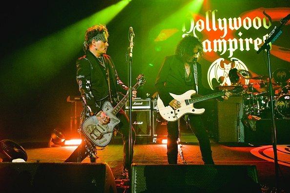 Johnny Depp und The Hollywood Vampires, Greek Theatre, 2019 | Quelle: Getty Images