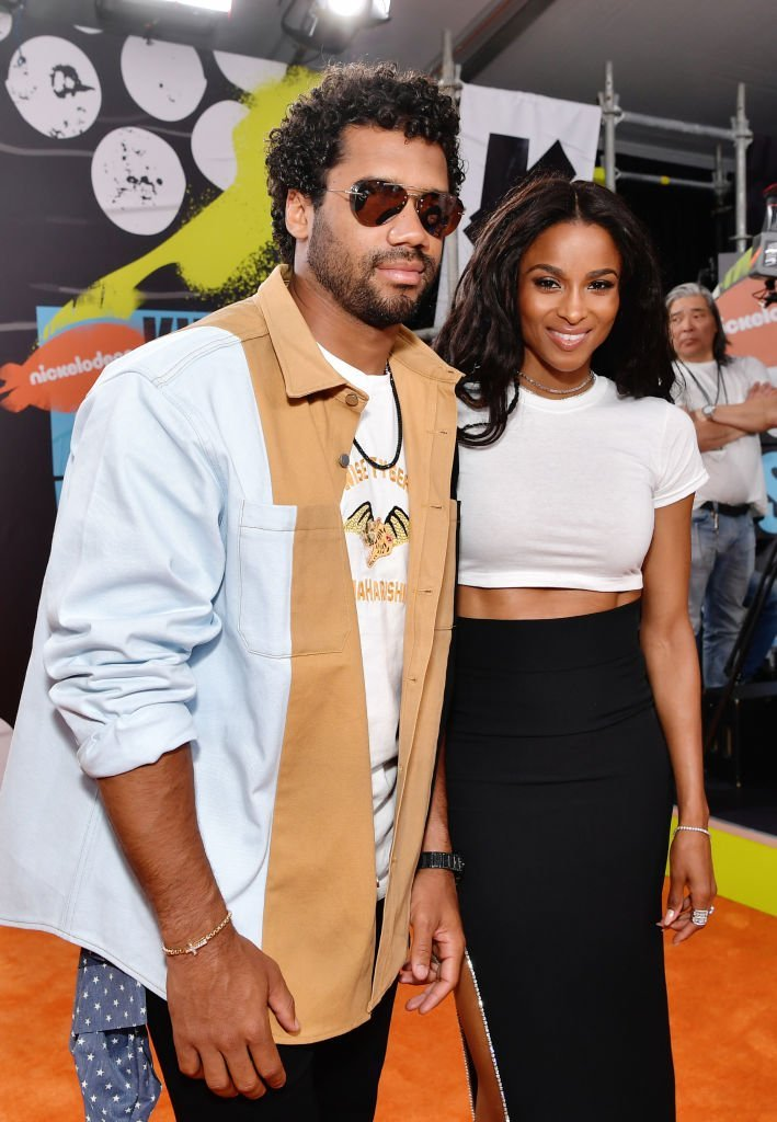 Russell Wilson and Ciara attend Nickelodeon Kids' Choice Sports 2019 at Barker Hangar | Photo: Getty Images