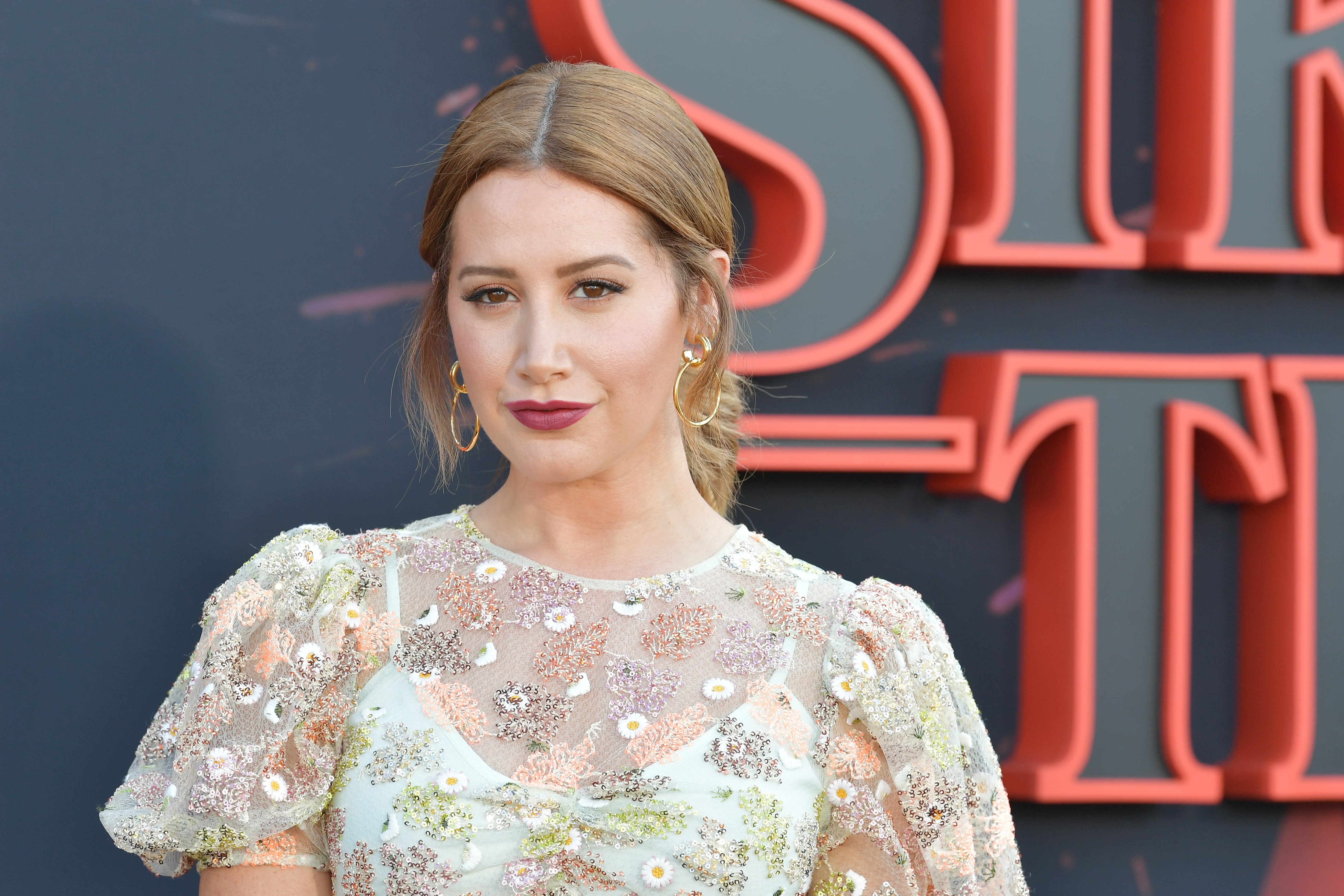 """Ashley Tisdale at the premiere of Netflix's """"Stranger Things"""" on June 28, 2019. 