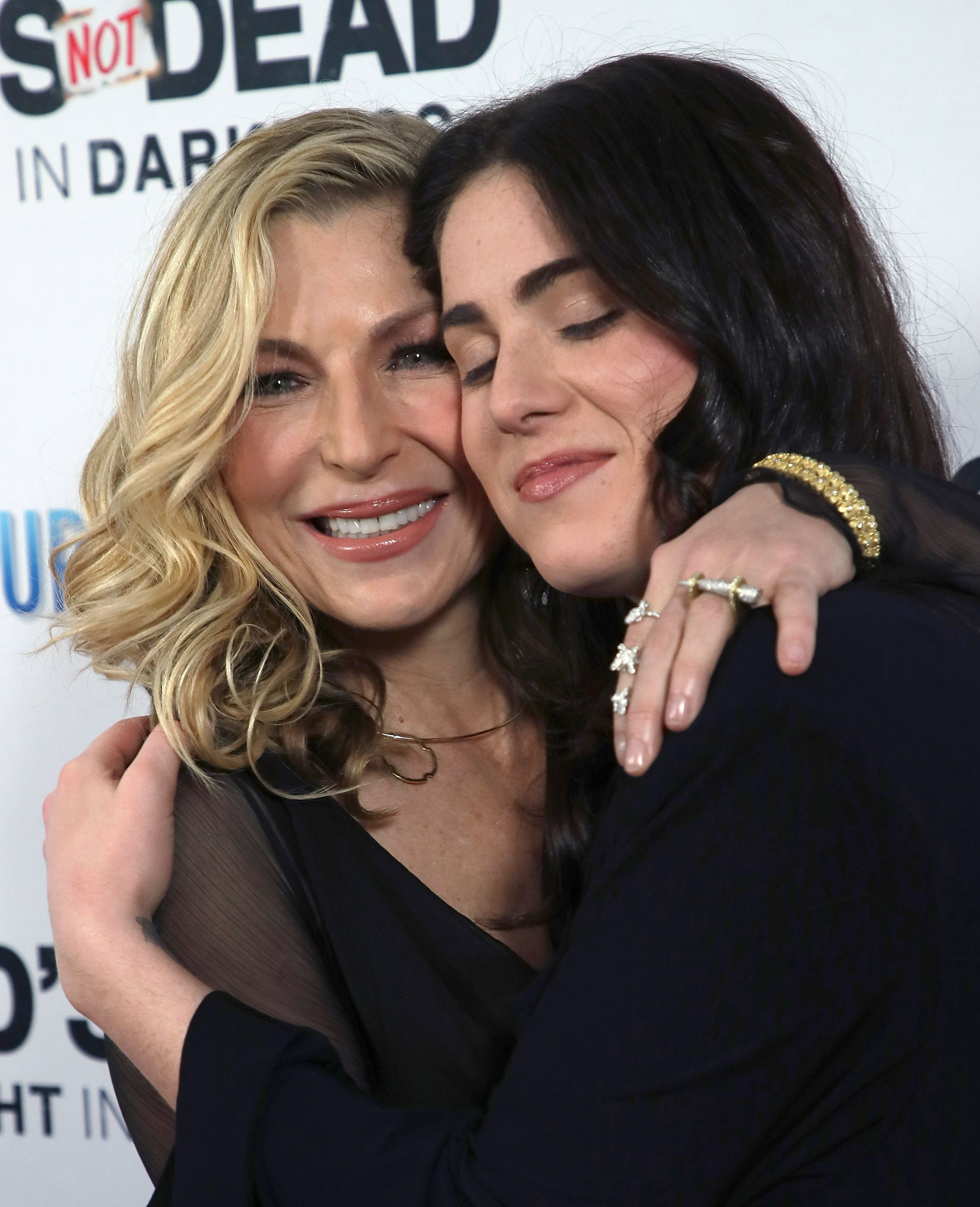 "Tatum O'Neal and daughter Emily McEnroe at the premier of ""God's Not Dead: A Light in Darkness"" in 2018 in Hollywood, California."