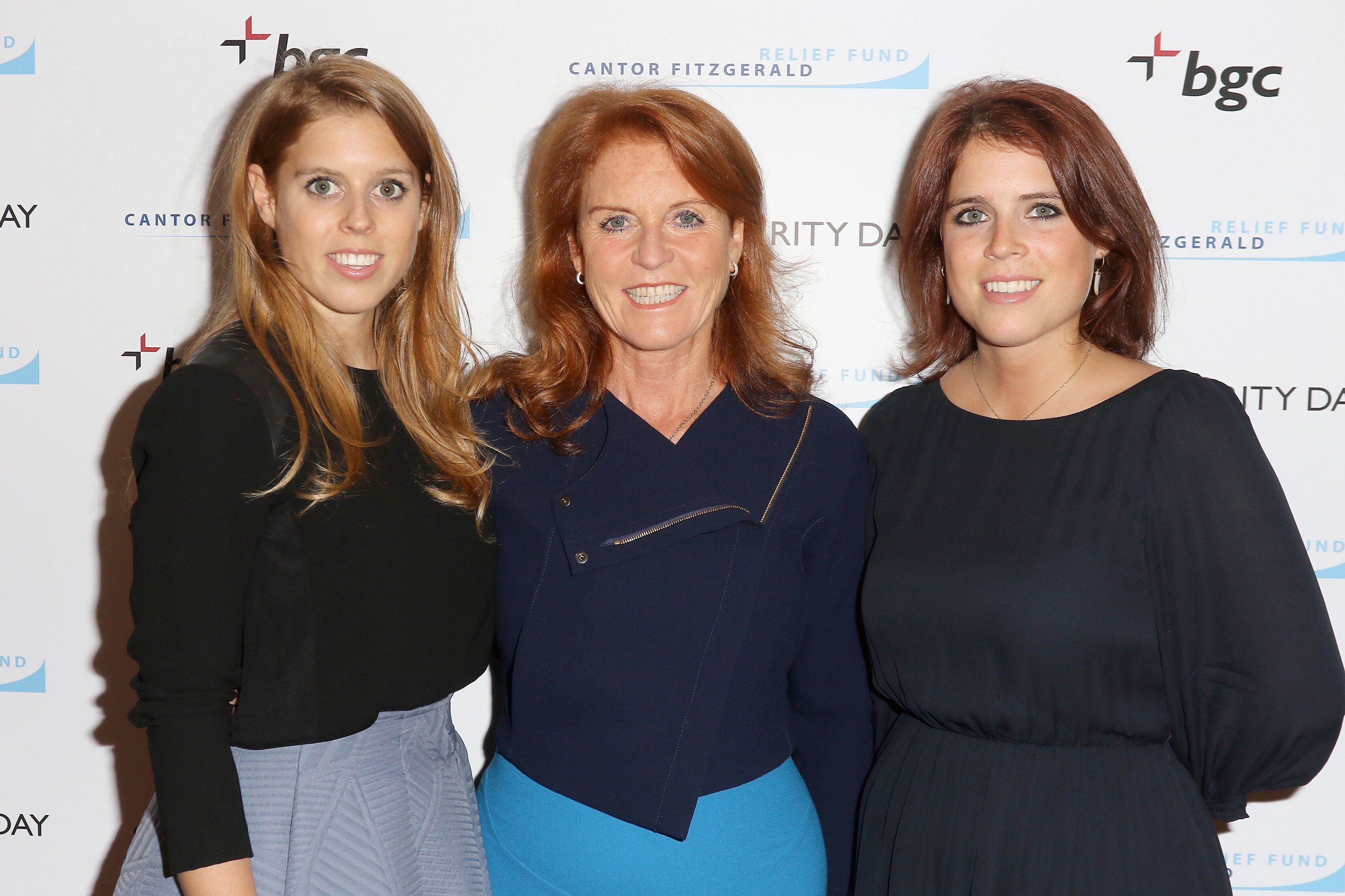 Beatrice Ferguson, Sarah Ferguson, Duchess of York, and Eugenie Ferguson attend Annual Charity Day hosted by Cantor Fitzgerald and BGC at BGC Partners, INC on September 11, 2015 in New York City | Photo: Getty Images