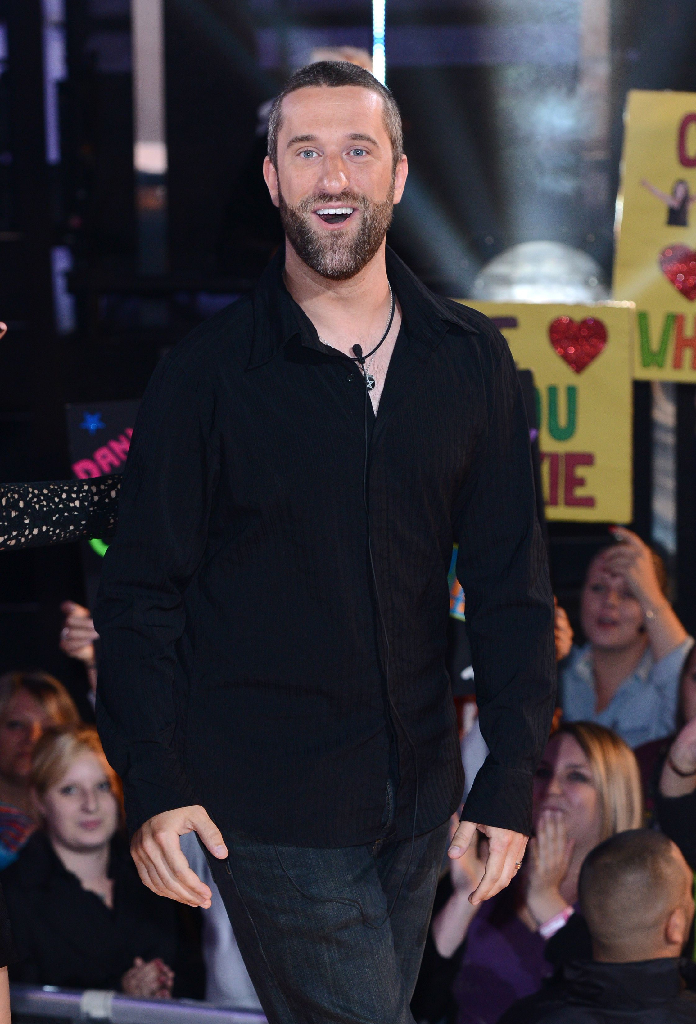 """Dustin Diamond leaving the """"Celebrity Big Brother"""" house in September 2013 in Borehamwood, England   Source: Getty Images"""