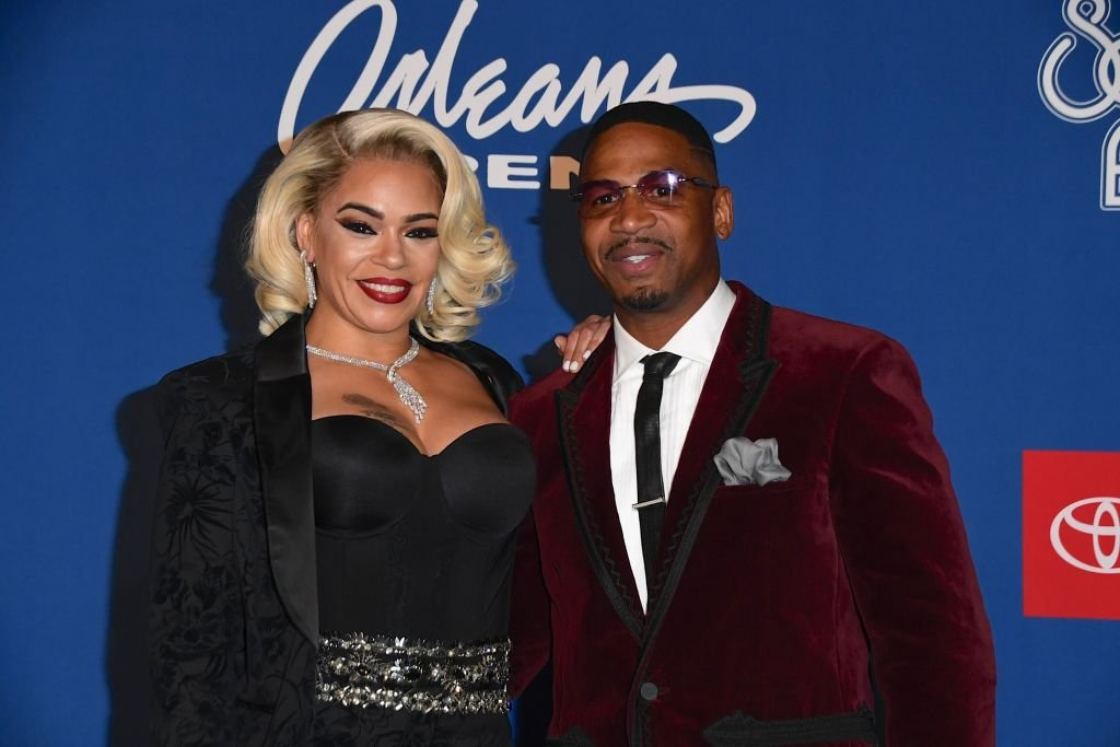 Stevie J and Faith Evans at the Soul Train awards, November 2018   Source: Getty Images