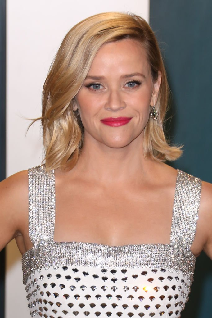 Reese Witherspoon nimmt am 09. Februar 2020 in Beverly Hills, Kalifornien, an der Vanity Fair Oscar Party 2020 im Wallis Annenberg Center for the Performing Arts teil.   Quelle: Getty Images