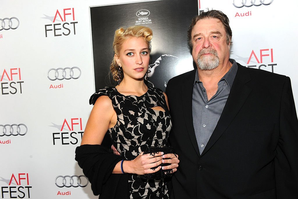 "Actor John Goodman (R) and daughter Molly Evangeline arrive at ""The Artist"" Special Screening during AFI FEST 2011 presented by Audi. 