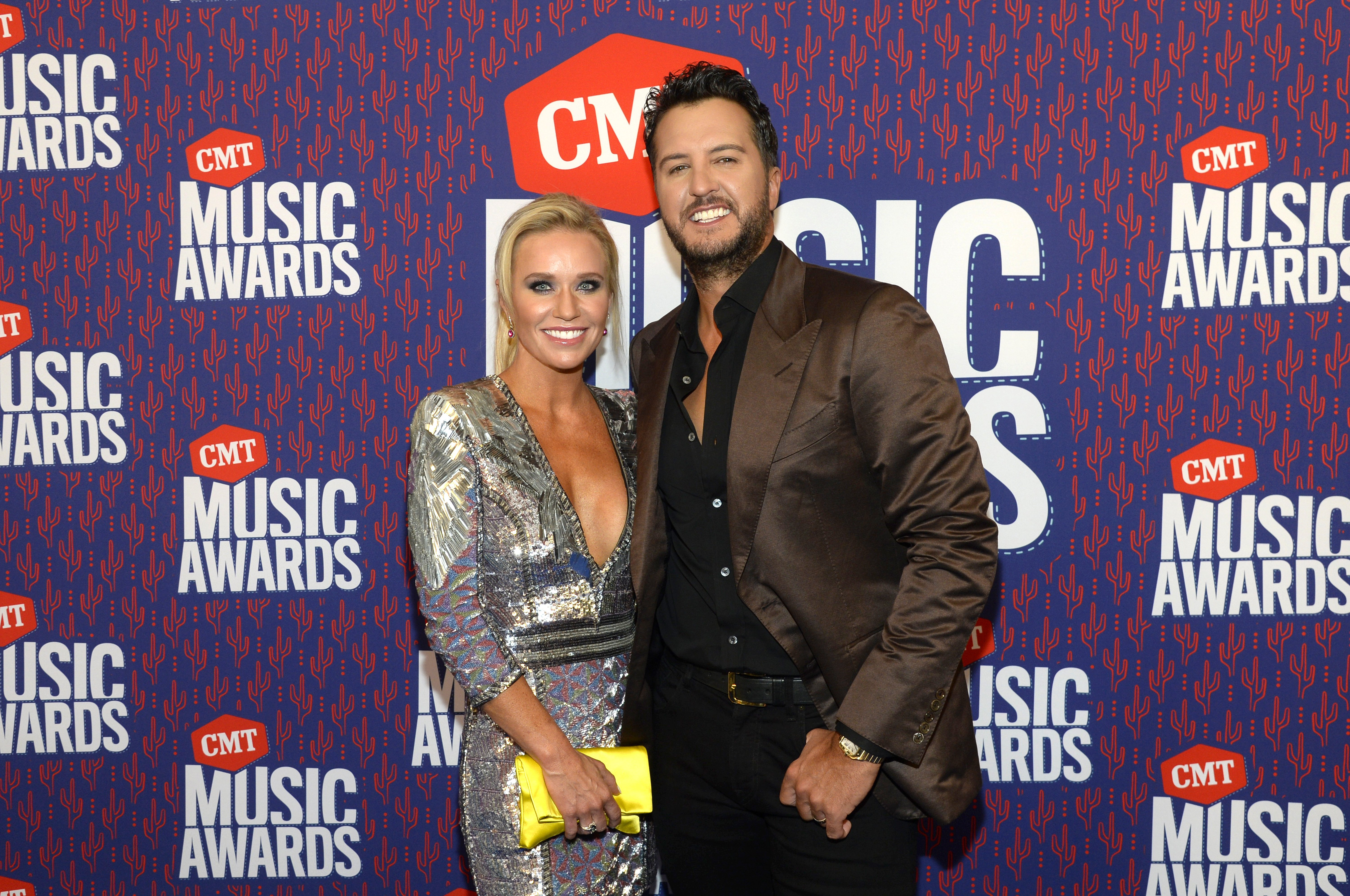 Luke Bryan and his wife, Caroline Boyer pictured at the CMT Music Awards, 2019, Nashville, Tennessee. | Photo: Getty Images