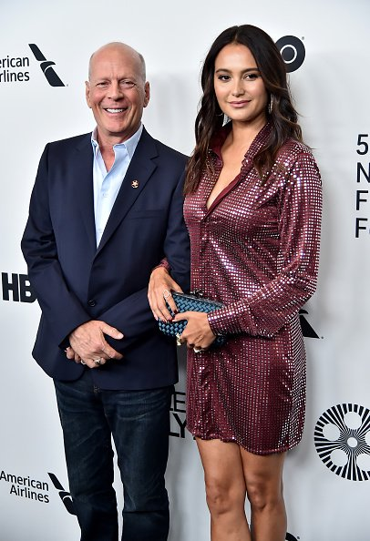 Bruce Willis and Emma Heming during the 57th New York Film Festival on October 11, 2019 in New York City. | Photo: Getty Images