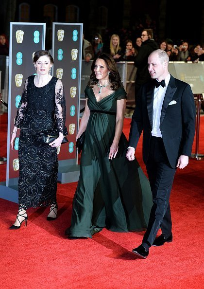 Kate Middleton and Prince William attend BAFTA Awards held at Royal Albert Hall on February 18, 2018, in London, England.| Photo: Getty Images