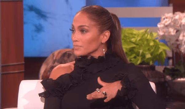 Jennifer Lopez on the Ellen DeGeneres show on February 13,2019. Source: YouTube/TheEllenShow