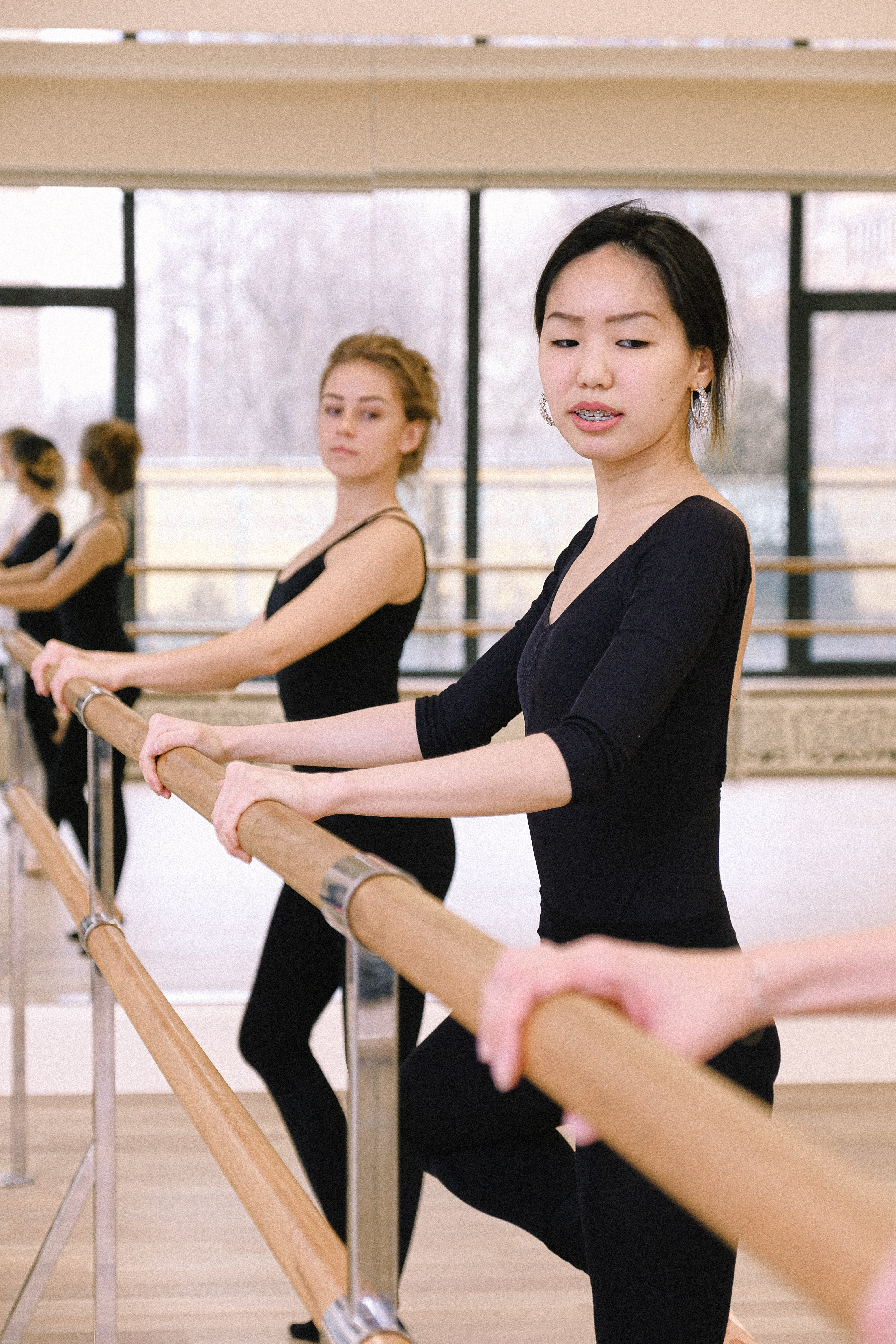 A group of women in black rehearsing ballet   Photo: Pexels