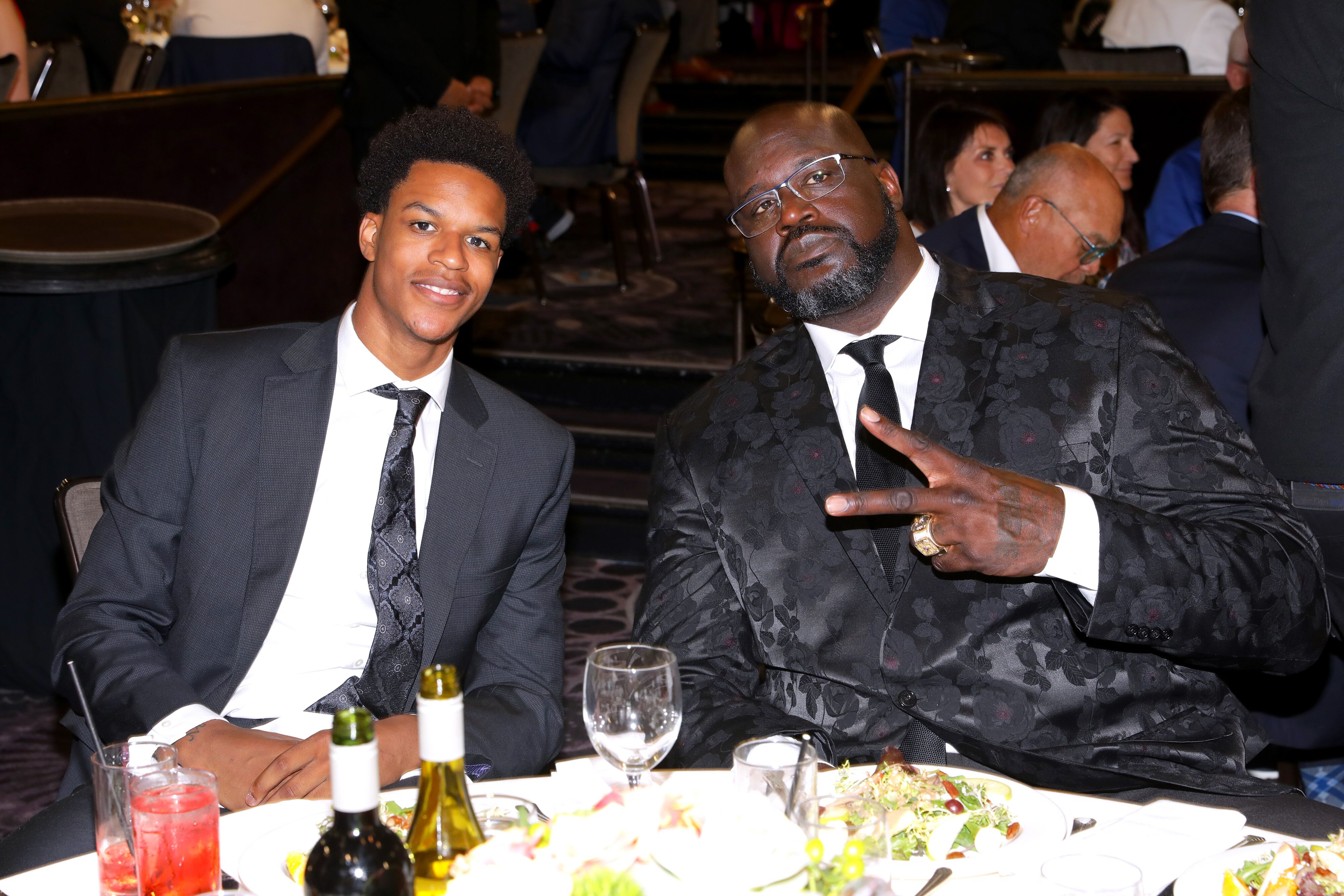 Shaquille O'Neal and son Shareef O'Neal at the 19th annual Harold and Carole Pump Foundation Gala| Source: Getty Images